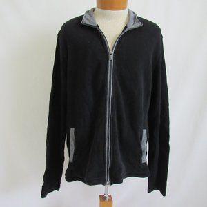 Michael Kors Black Thermal Cardigan Zip Men's XXL